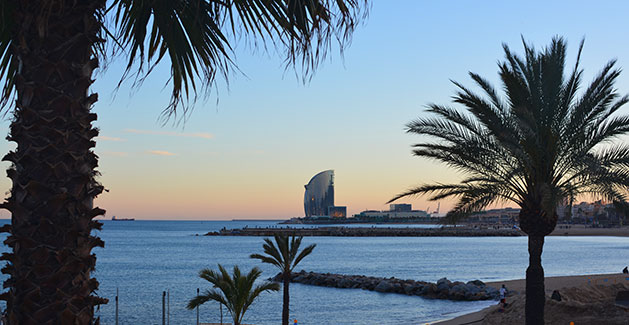 beach vacation in the Mediterranean - Barceloneta Beach